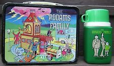 Vintage THERMOS Addams Family Steel LUNCH BOX and BOTTLE 1974 Hanna Barbera