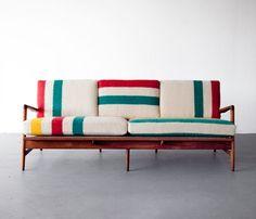 Hudson's bay blanket upholstery