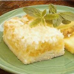 Pineapple coconut squares...one of my absolute favorites! <3