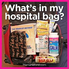 What's in Mama Natural's #hospitalbag -  an abundance of natural birthing aids. Truly awesome list!