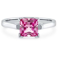 BERRICLE BERRICLE Sterling Silver Princess Pink CZ Solitaire... ($47) ❤ liked on Polyvore featuring jewelry, rings, pink, sterling silver, women's accessories, princess cut engagement rings, cubic zirconia engagement rings, cubic zirconia wedding rings, solitaire engagement rings and pink engagement rings