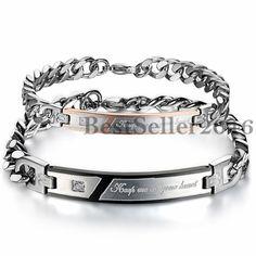Partner Armband Gravur Damen Herren Panzer Armkette Armreif Silber Schwarz Gold