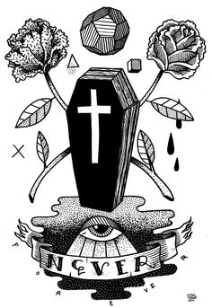 I LOVE ILLUSTRATION: Martin Krusche - Berlin based arttist Martin Krusche. He uses markers, ink or watercolor and then digitally colores it. Tattoo Illustration, Love Illustration, Tattoo Sketches, Tattoo Drawings, Coffin Tattoo, Tatuaje Old School, Traditional Tattoo Flash, Neo Traditional, Calligraphy Drawing