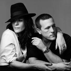 A portrait of Garance Dore and Scott Schuman for New York Magazine's fashion issue, by Graeme Mitchell.