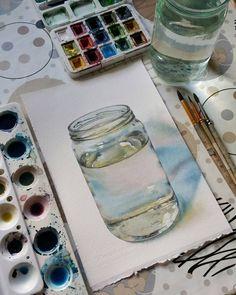Продолжаю рисовать обычные предметы из повседневной жизни, которые есть у каждого из нас. На таких простых формах легче понять, как устроен предмет, его характерные особенности, обозначить как падает свет и тень, и придать текстуру объемам. На стеклянных предметах, чтобы они засверкали, очень важно оставить блик, ведь именно отражение света на поверхности отличает стекло от других фактур. А вы любите рисовать стеклянные, глянцевые поверхности?)) . Используемые материалы: художественные…