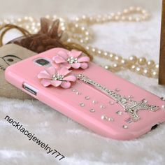 pink case for samsung galaxy s4 case back by necklacejewelry777, $12.90