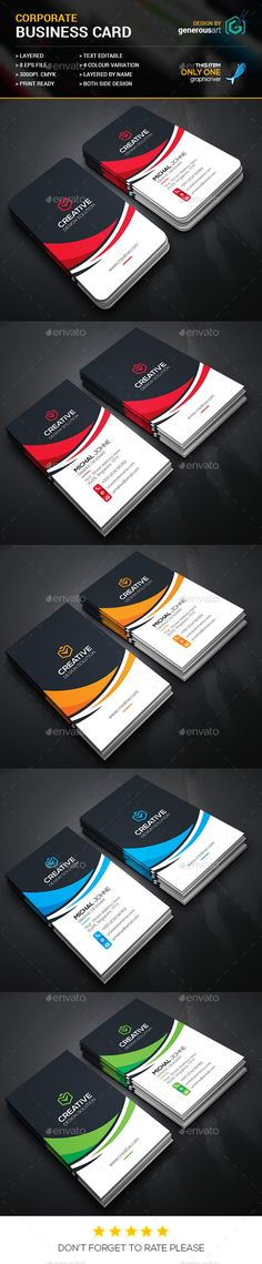 Creative Business Cards Template #design #visitenkarte Download: http://graphicriver.net/item/creative-business-cards/12277539?ref=ksioks
