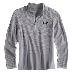 6023e75abdd Boys 8-20 Under Armour Seamless Quarter-Zip Tee