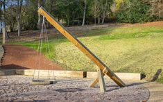 Playground Equipment - Swing No.6 Basket Playground Swings, Park Playground, Pea Shingle, Climbing Holds, Wall Seating, Multiplication For Kids, Kew Gardens, Outdoor Furniture, Outdoor Decor