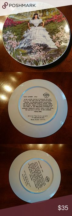 Gone With the Wind Scarlett Decorative Plate Decorative plate ...Gone With the Wind plate.. Scarlett O'Hara ... perfect condition.. plate number 70 G.. smoke free home.. Knowles Other