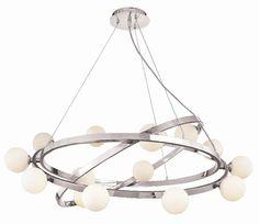 Access Lighting Nitrogen 15 Light Cable Articulating Chandelier with Opal Glass & Reviews   Wayfair