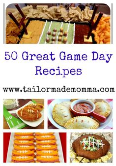 50 Great Game Day Recipes!  The FAVORITES for parties!