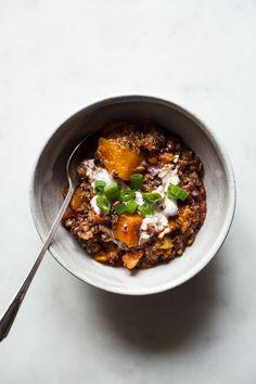 Slow Cooker Black Bean, Butternut Squash & Quinoa Chili   The Full Helping