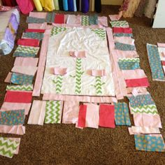 the flowers in the middle will be ruffled - rag quilt