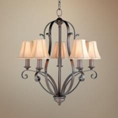 Feiss Romana Collection Five Light Chandelier