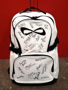Sequin Black Backpack Book Bag Daypack Varsity Charm Cheer Team Sports Sporting Goods