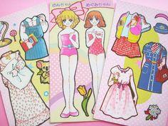 Kawaii Vintage Japan Paper Doll Collection Cute Girls & Dress Set by Kawaii Japan, via Flickr