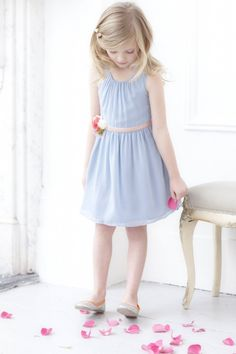 Mini Boden special occasion spring 2013 simple silk georgette shift dress for girlswear