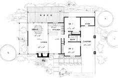 First Floor Plan of Contemporary   Retro   House Plan 21122