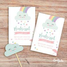 Rainbow Rain of Love. Pink Birthday, Rainbow Birthday, Girl First Birthday, 4th Birthday, Welcome Poster, Banner Letters, Baby Shower, Ideas Para Fiestas, Flag Decor