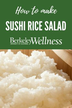 Sticky #sushi #rice and spicy #wasabi powder give this #salad #recipe an #Asian flair http://www.berkeleywellness.com/healthy-eating/recipes/article/sushi-rice-salad/?ap=2012