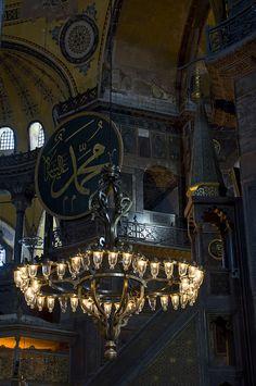 Sainte Sophie, Hagia Sophia, Islamic Architecture, Mosques, Istanbul, Ottoman, Chandelier, Candelabra, Chandeliers