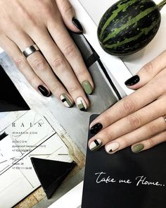 799 Likes, 4 Comments - Irina Rain ( Love Nails, How To Do Nails, Pretty Nails, My Nails, Nail Polish, Nail Manicure, Geometric Nail, Minimalist Nails, Stylish Nails