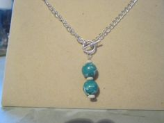 Green pendant on T-Bar.New make, added onto etsy today. This style is available made to order.