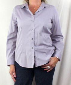 J Jill Blouse M size Light Purple All Season Womens Cotton Top Career Shirt