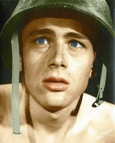 James Dean in Fixed Bayonets, 1951 colorized