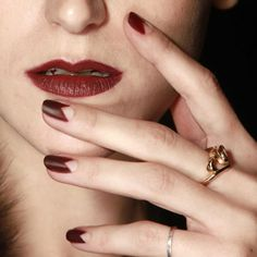pointed reverse french -- Zoya Nail Polish on the Runway: New York Fashion Week Autumn/Winter 2014