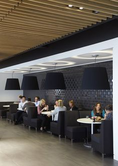 Hunter Douglas provides a UK first for prestigious office development Baffle Ceiling, Metal Ceiling, Ceiling Panels, Hunter Douglas, Law Office Design, Workplace Design, Corporate Interiors, Office Interiors, Church Interior Design