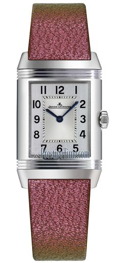 25884LC Scarababe Pink Christian Louboutin Jaeger LeCoultre Reverso Classic Duetto Manual Wind Ladies Watch Jaeger Lecoultre Reverso, Jaeger Lecoultre Watches, Manual, Christian Louboutin, Crystals, Classic, Pink, Jewelry, Women