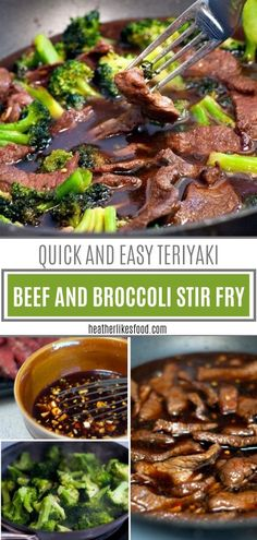 Teriyaki Beef and Broccoli Stir Fry A super quick dinner recipe perfect for the family! This Teriyaki Beef and Broccoli Stir Fry is loaded with fresh or frozen broccoli, tender beef strips, and is drenched in a sweet and savory sauce. Beef And Broccoli Sauce, Beef Broccoli Stir Fry, Beef Sauce, Terriyaki Beef, Teriyaki Beef Stir Fry, Venison Stir Fry Recipe, Steak Stir Fry, Frozen Broccoli Recipes, Steak Stirfry Recipes