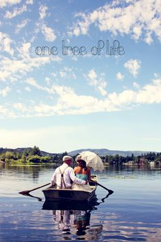 Northwest Wedding by One Tree of Life photography, couple portraits in boat on lake