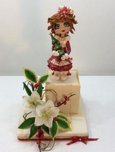Christmas Dolls in sugar flowers by Carla Poggianti Il Bianconiglio