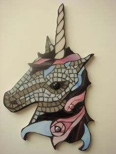 Your place to buy and sell all things handmade Mosaic Garden, Mosaic Art, Mosaic Glass, Unicorn Glass, Unicorn Wall, Stained Glass Patterns, Mosaic Patterns, Hobbies And Crafts, Arts And Crafts
