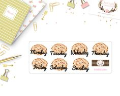 Big Happy Planner Date Stickers Weekly by OneCraftyCountryGirl