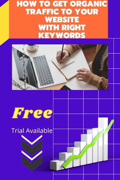 you can get a more traffic with this free tool. Trial available. Just follow through the link in the description. Work From Home Jobs, Digital Marketing, How To Get, Website, Learning, Link, Free, Studying, Teaching