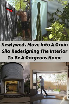 But when things started getting serious between architect Christoph Kaiser and stylist Shauna Thibault, they decided to turn an old grain silo into their first home.