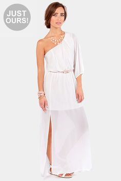 One and Only Ivory Maxi Dress at LuLus.com!