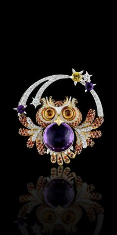 http://rubies.work/0763-blue-sapphire-earrings/ 0654-ruby-rings/ Master Exclusive Jewellery Owl brooch