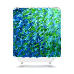 Bathroom shower curtains blue paint colors 27 Ideas for 2019 Bathroom Colors Blue, Blue Paint Colors, Bathroom Green, Seaside Bathroom, Colorful Bathroom, Small Bathroom, Teal Shower Curtains, Vintage Shower Curtains, Small Shower Remodel
