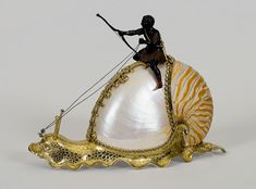 Jeremias Ritter, Nautilus Cup, c. 1630 -,Silver-gilt and shell, 7 3/4 x 10 1/2 inches, Gift of J. Pierpont Morgan, 1917.260