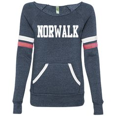 Norwalk Is Where My Heart Is — Women's Sweater-Blue