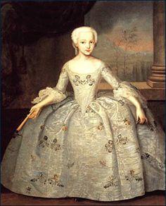 I.Vishnyakov. Portrait of Sarah Eleonora Fermor. 1749(50?)