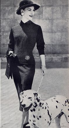 Dalmatian Fashion Hound 1955, via Millie Motts.