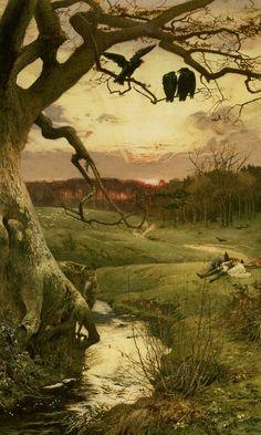 Three Ravens - Edward Frederick Brewtnall 1885.
