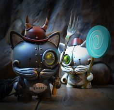 "Trick & Treat customized ""Trikky"" toys by Kidrobot."