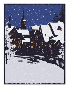 Night Village by Linnea Design